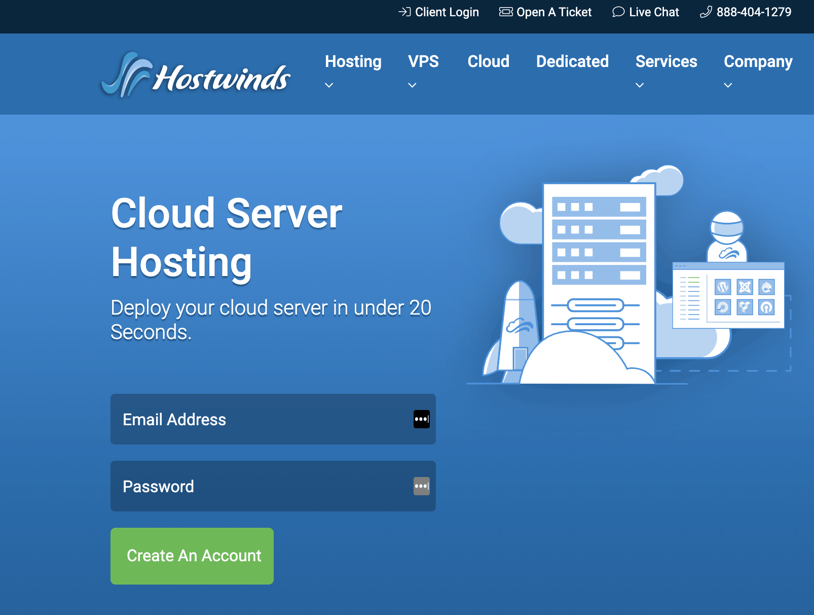 Servidor Hostwinds Cloud Hosting